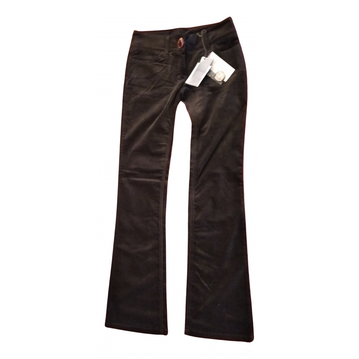 John Richmond \N Green Cotton Trousers for Women 40 IT