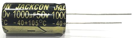 RS PRO 1μF Electrolytic Capacitor 100V dc, Through Hole (1000)