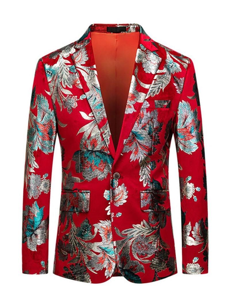 Ericdress Notched Lapel Color Block Fashion Leisure Men's Blazers