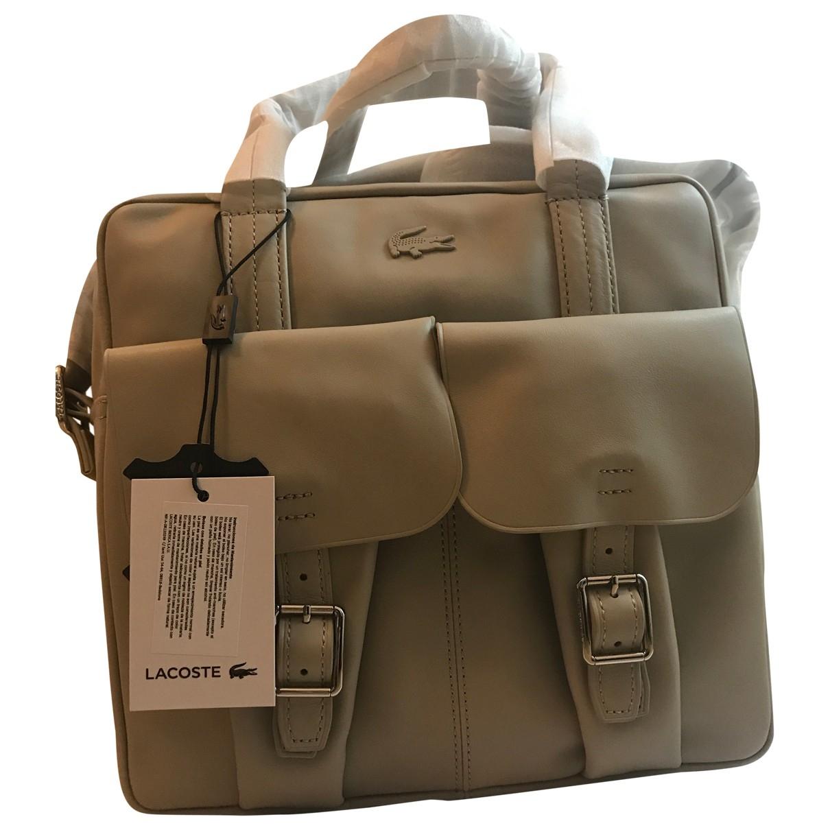 Lacoste \N White Leather handbag for Women \N