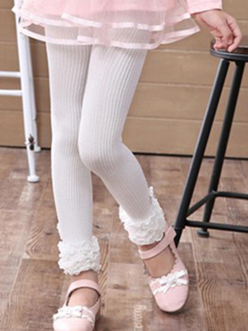 Ericdress Stripe Lace Diamond Girls Leggings