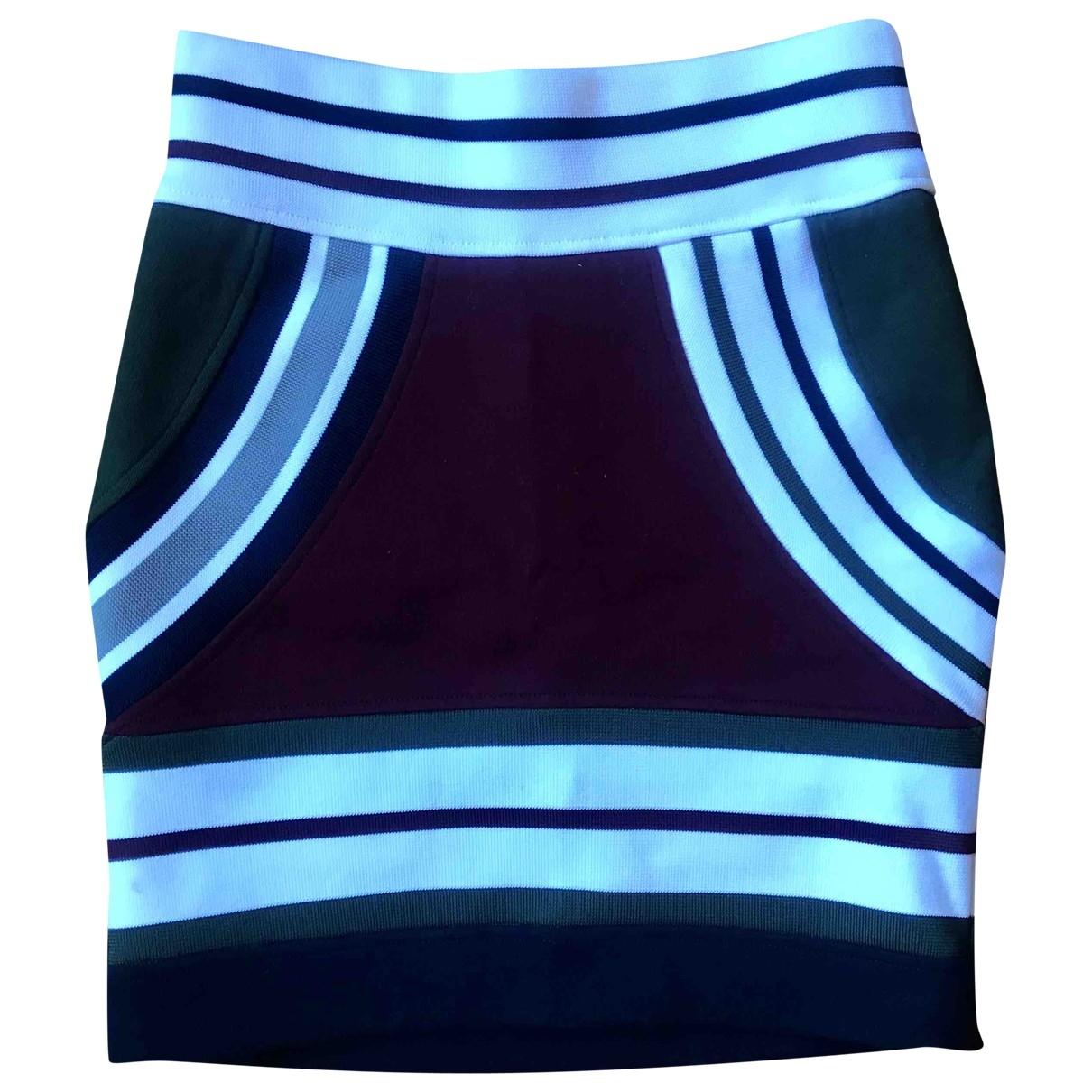 Acne Studios \N Burgundy Cotton - elasthane skirt for Women 34 FR