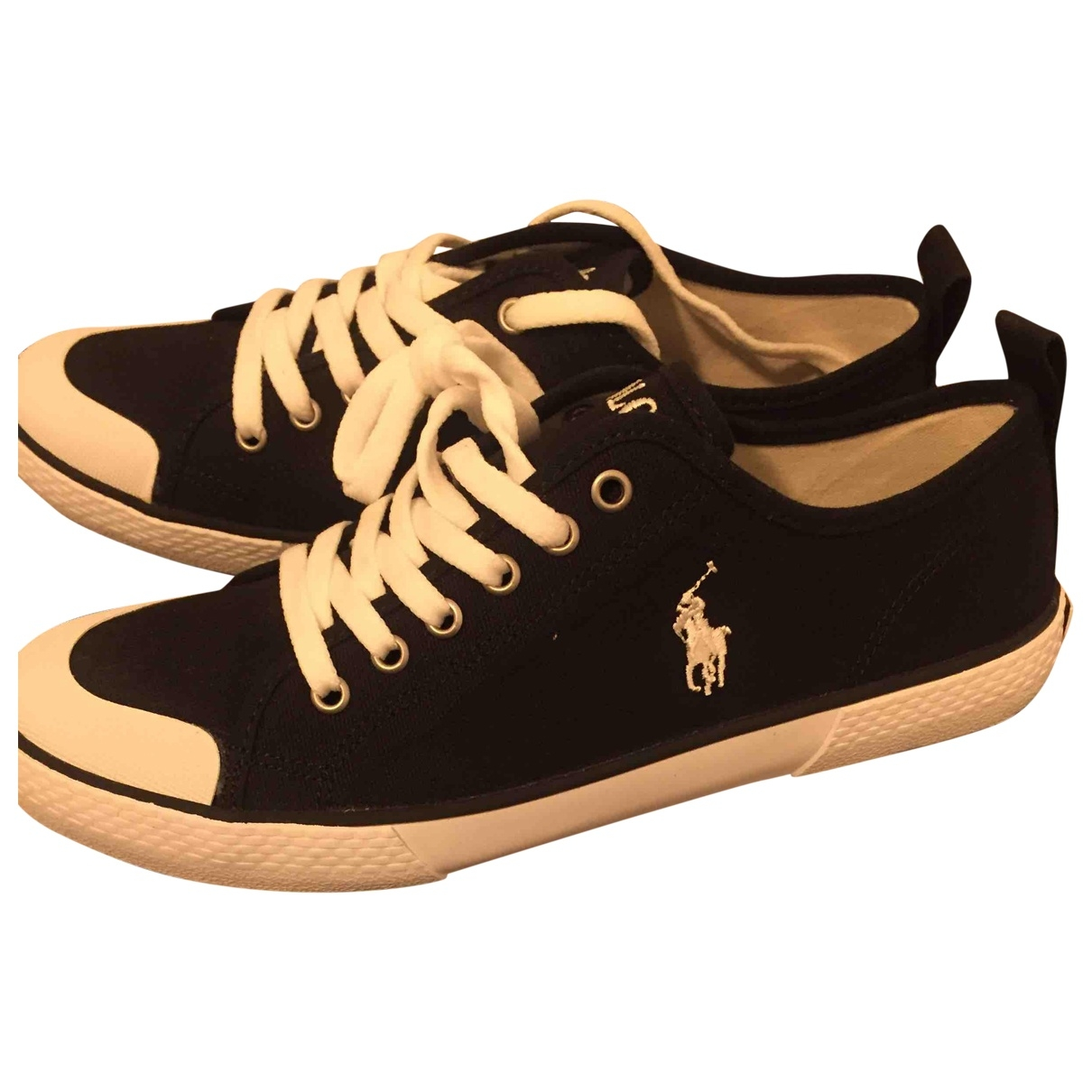 Polo Ralph Lauren \N Black Cloth Trainers for Men 40 EU
