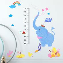 Kids Cartoon Graphic Height Measure Wall Sticker