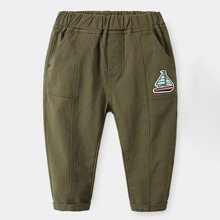 Toddler Boys Patched Pants