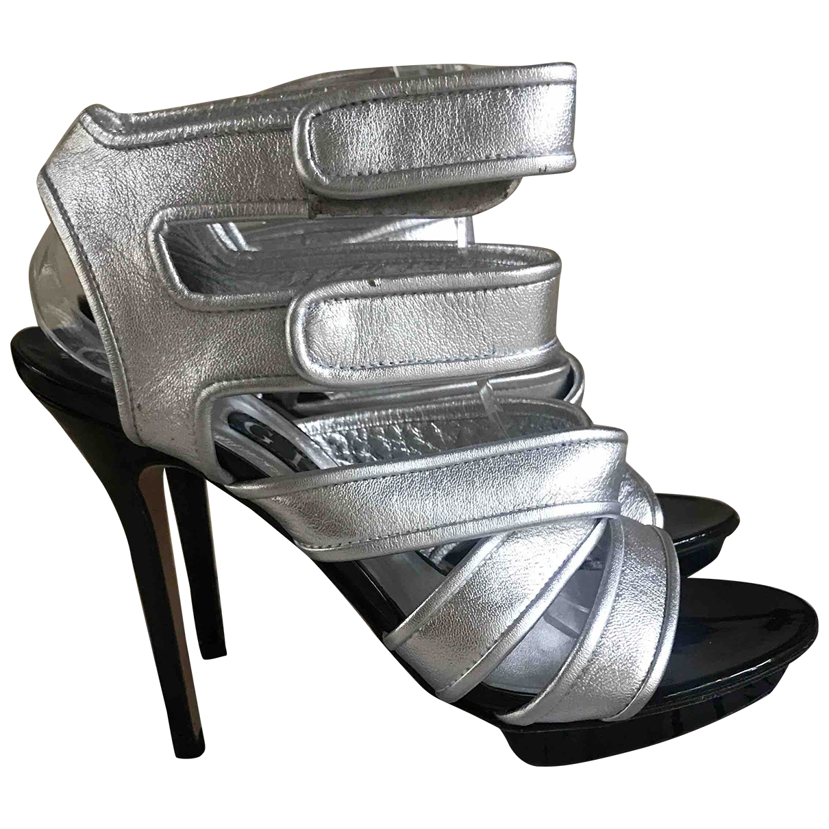 Gina \N Silver Leather Sandals for Women 6 UK