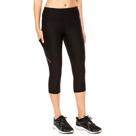 Xersion Essential Side Pocket Performance Capris, X-large , Black