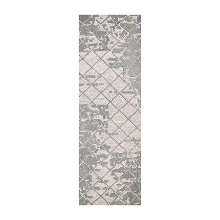 Rizzy Home Idyllic Collection Genevieve Grid Rectangular Rugs, One Size , White
