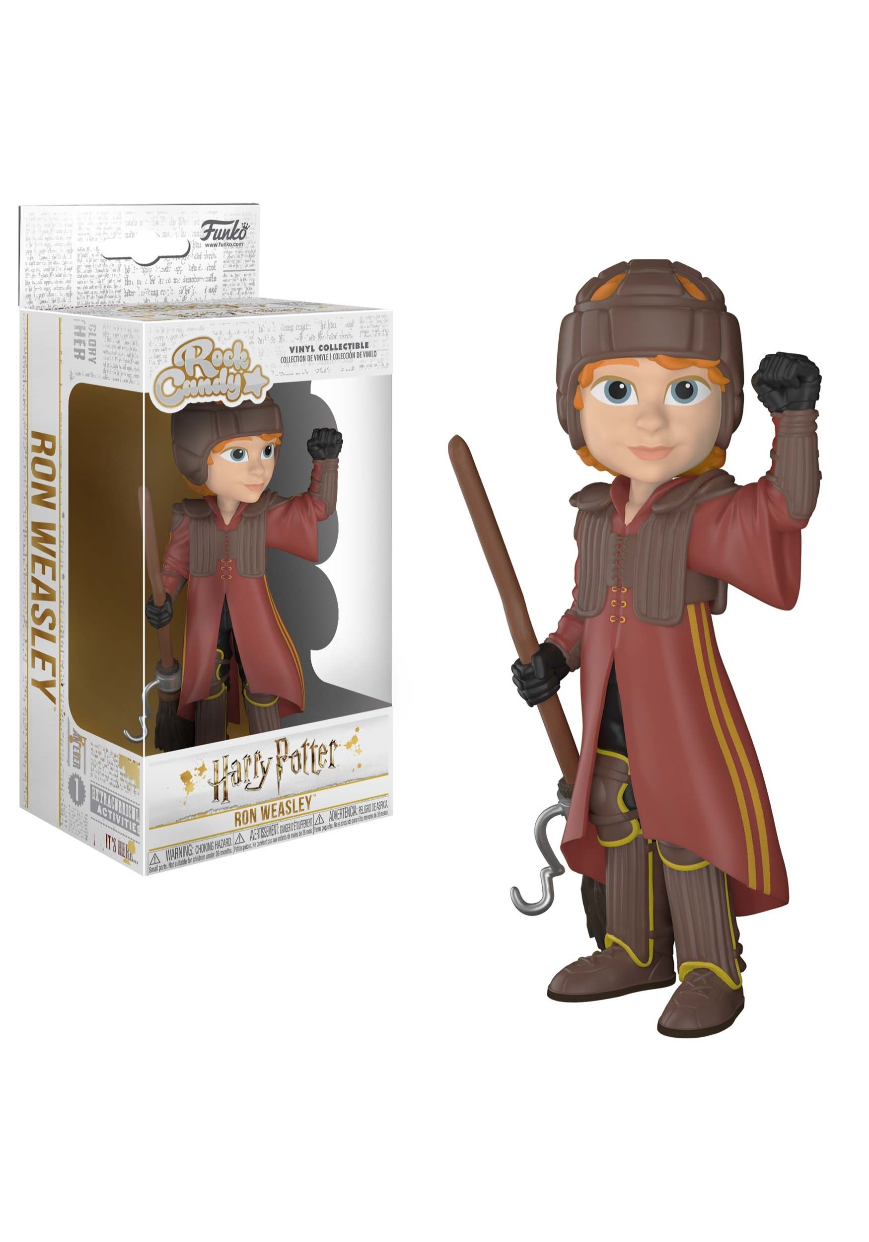 Rock Candy: Harry Potter- Ron in Quidditch Uniform Figure