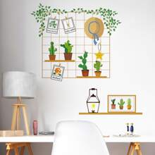 Cactus Print Wall Sticker