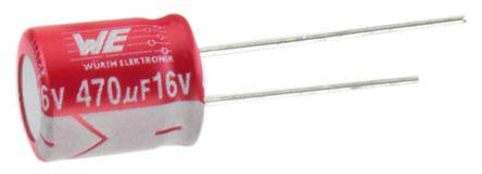 Wurth Elektronik 33μF Polymer Capacitor 50V dc, Through Hole - 870055775003