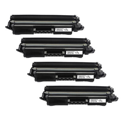 Compatible HP 17A CF217A Black Toner Cartridge - With Chip - Economical Box - 4/Pack
