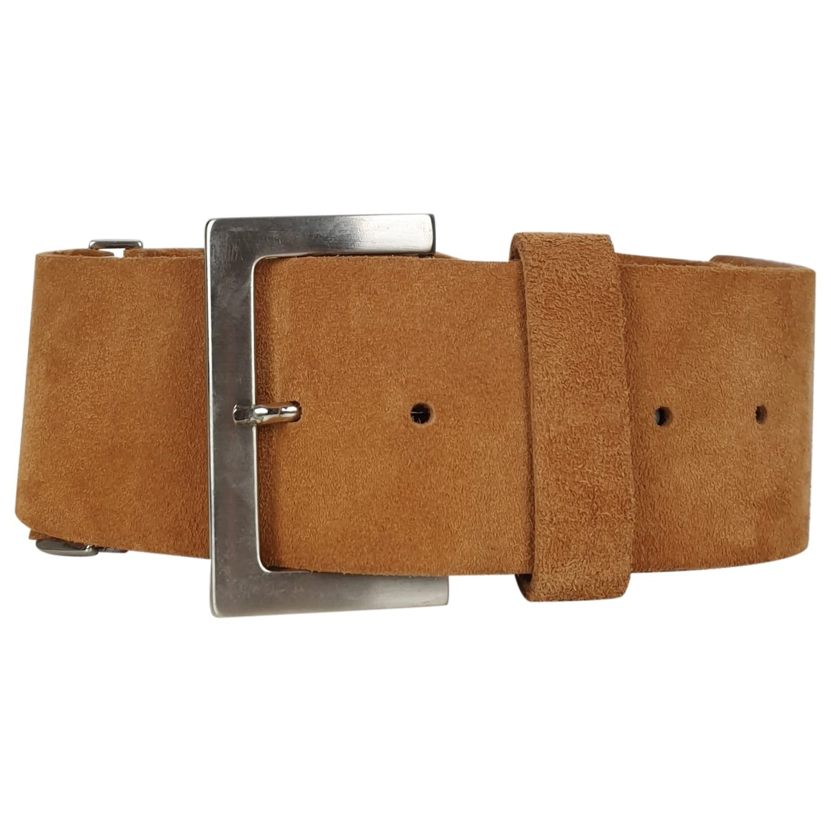 Non Signé / Unsigned \N Camel Suede belt for Women 80 cm