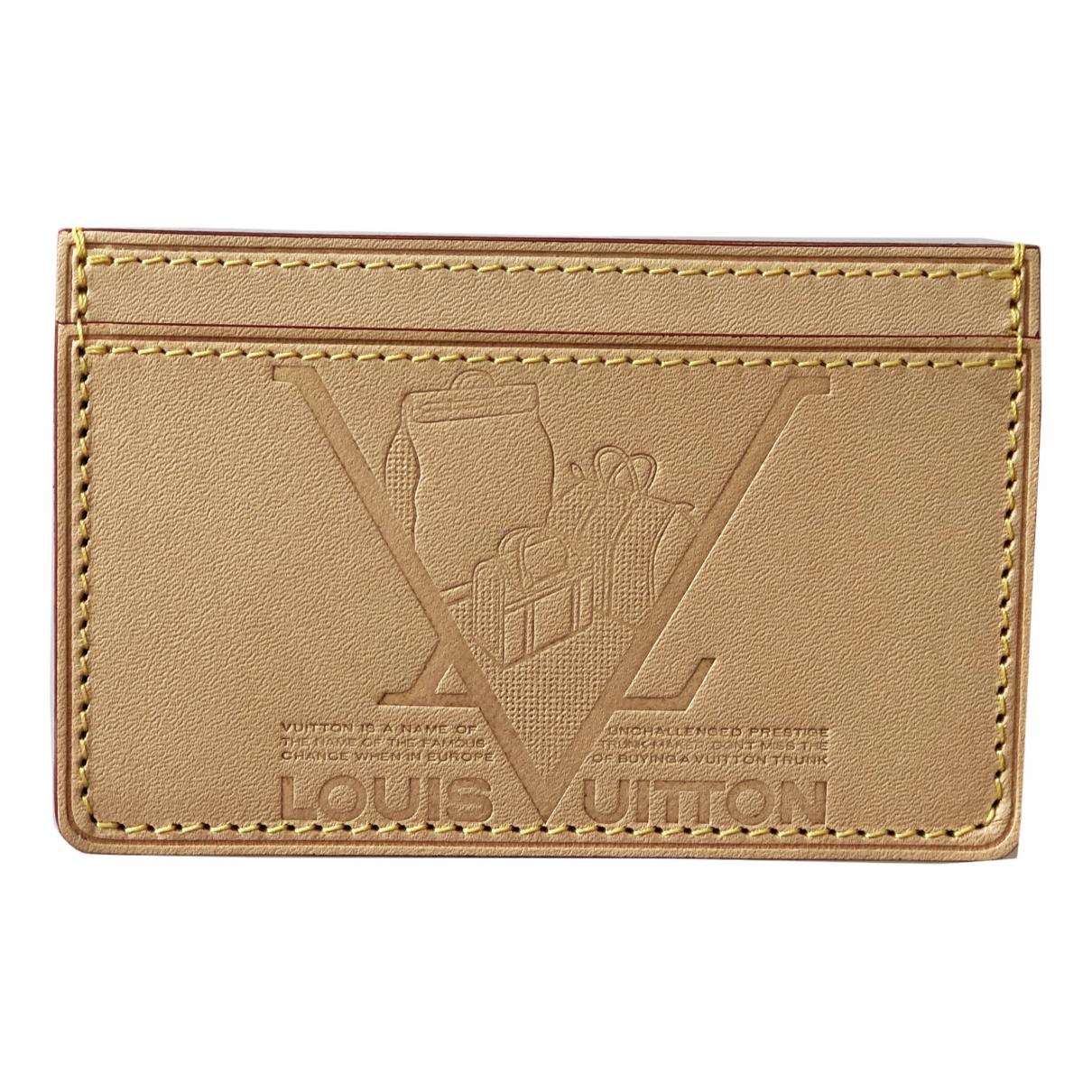 Louis Vuitton \N Beige Leather Purses, wallet & cases for Women \N