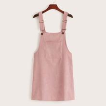 Corduroy Overall Mini Dress