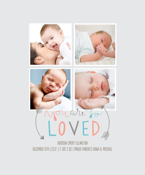 Baby + Kids Canvas Print, 16x20, Home Décor -So Loved