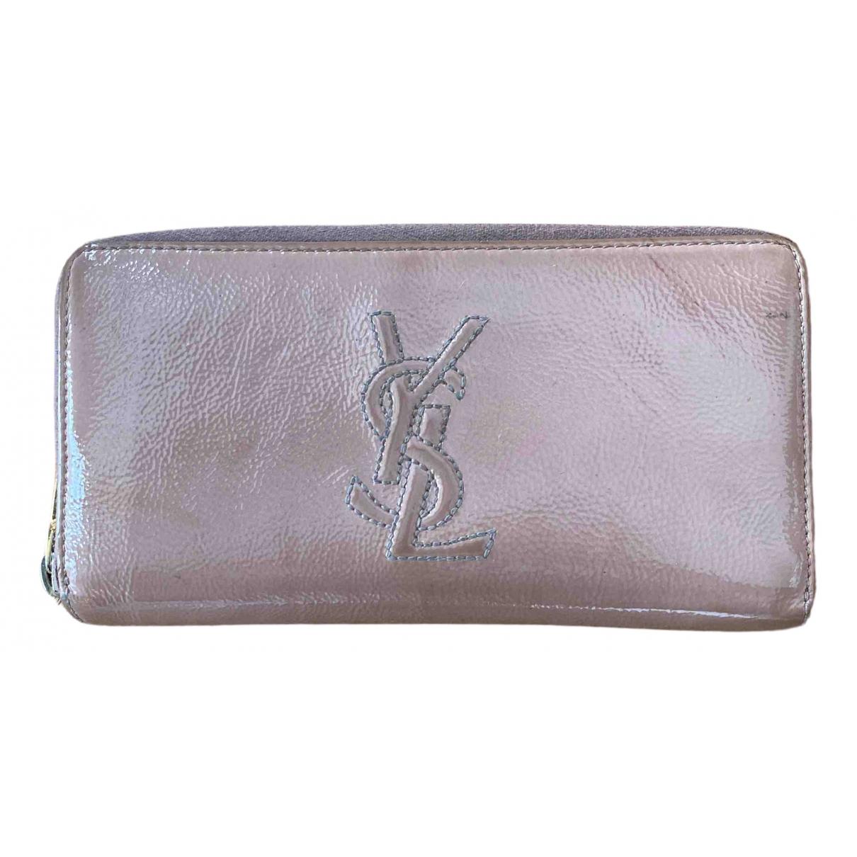 Yves Saint Laurent Belle de Jour Pink Patent leather wallet for Women \N