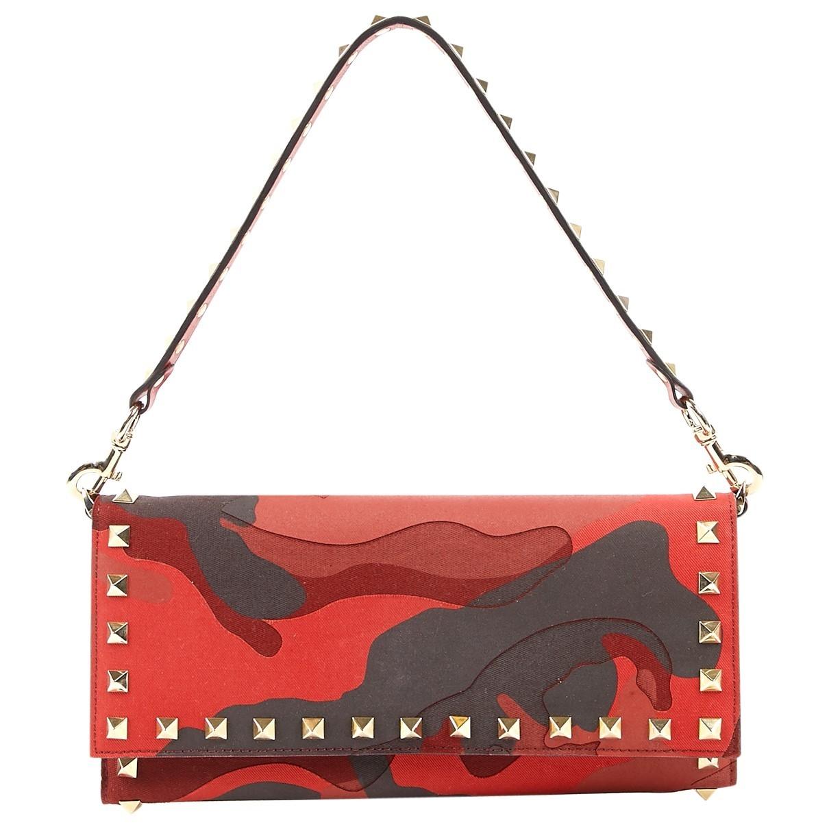 Valentino Garavani \N Red Cloth Purses, wallet & cases for Women \N