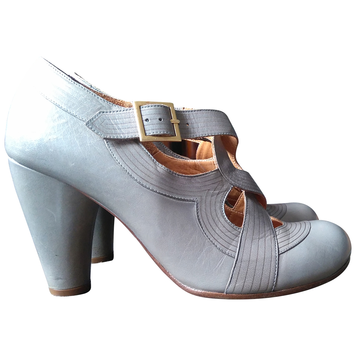 Chie Mihara \N Grey Leather Ankle boots for Women 39 EU
