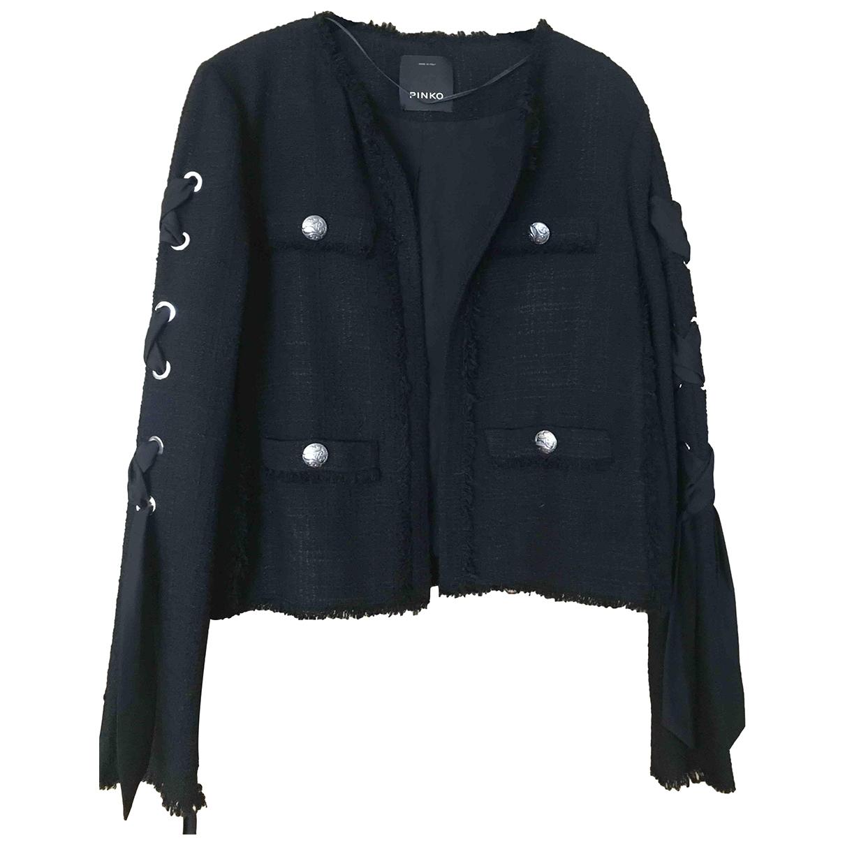 Pinko \N Black Cotton jacket for Women 38 FR