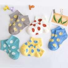 5pairs Toddler Kids Polka Dot Socks