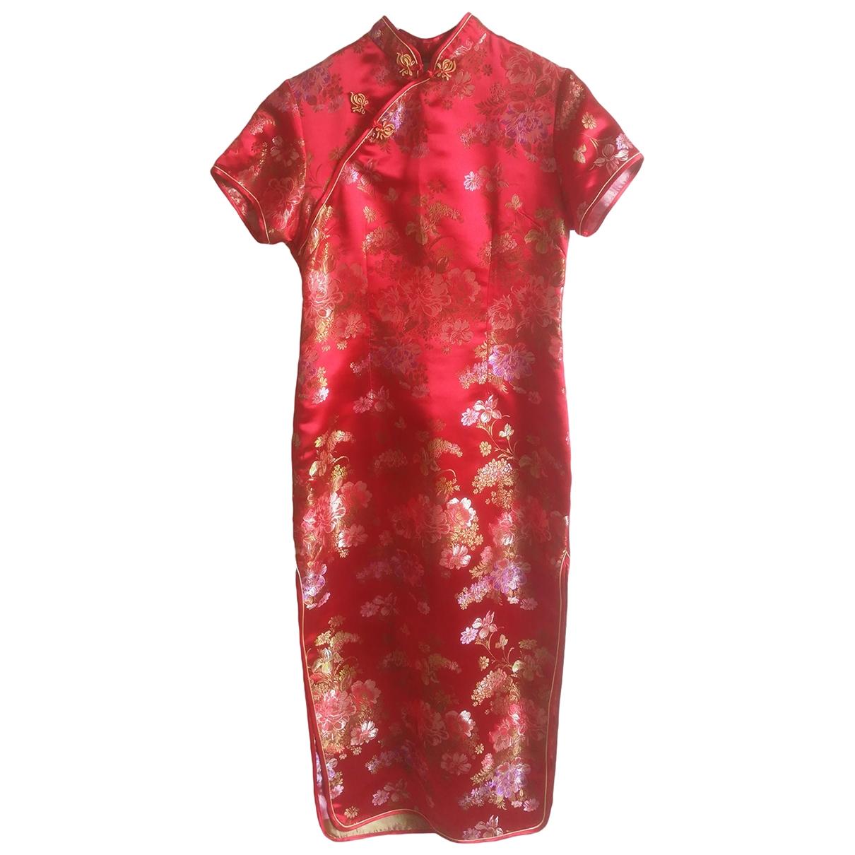 Non Signé / Unsigned \N Red Silk dress for Women XL International