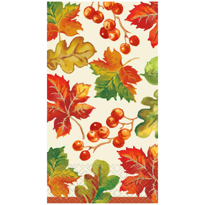 Berries & Leaves Fall Guest Towels, 16ct