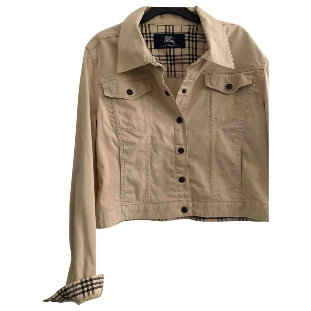 Burberry \N White Cotton jacket & coat for Kids 14 years - S UK