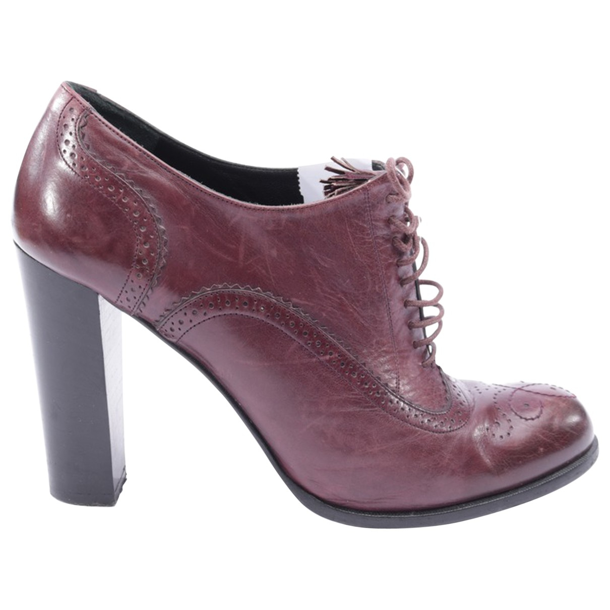 Bally \N Purple Leather Ankle boots for Women 40.5 EU