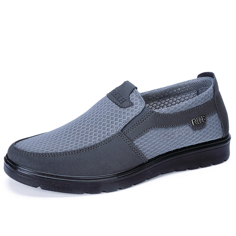 Men Mesh Fabric Breathable Slip On Casual Shoes