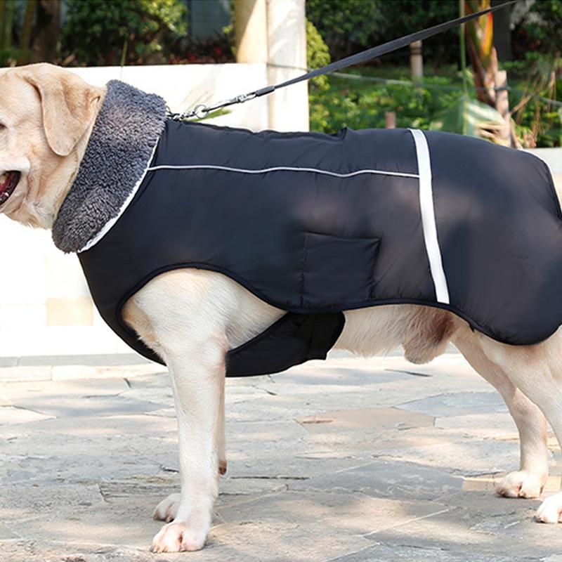 Dog Thicken Jacket Vest Costume Water Repellent Reflective Warm Dog Clothes
