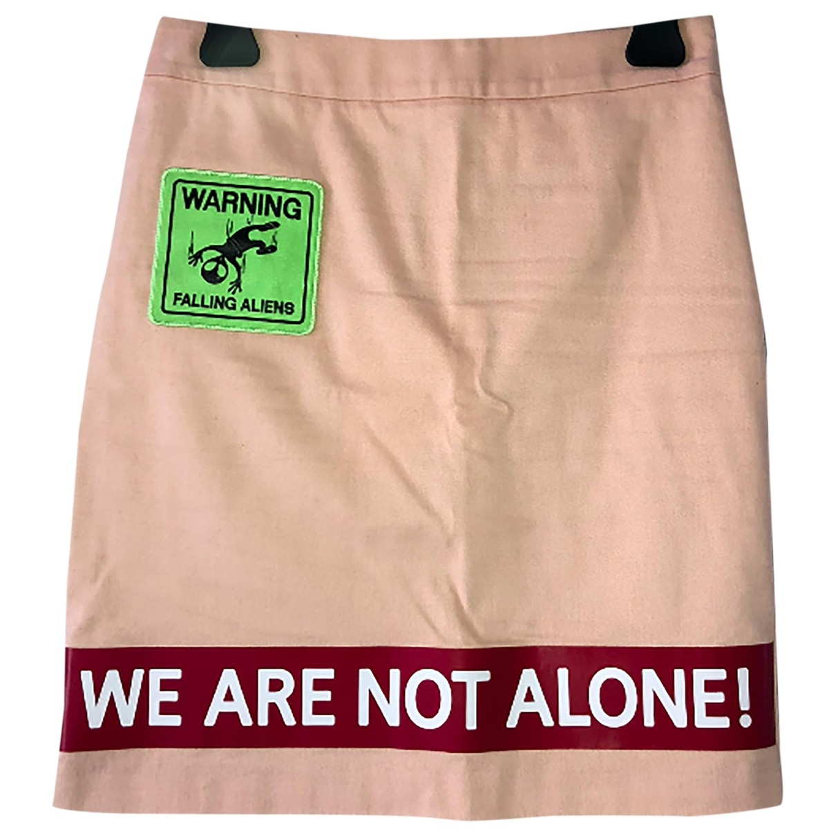 Moschino Love \N Pink Cotton skirt for Women 40 IT
