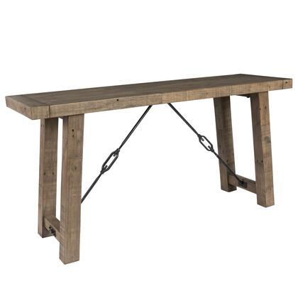 BM203611 Handcrafted Reclaimed Wood Console Table with Grains  Weathered