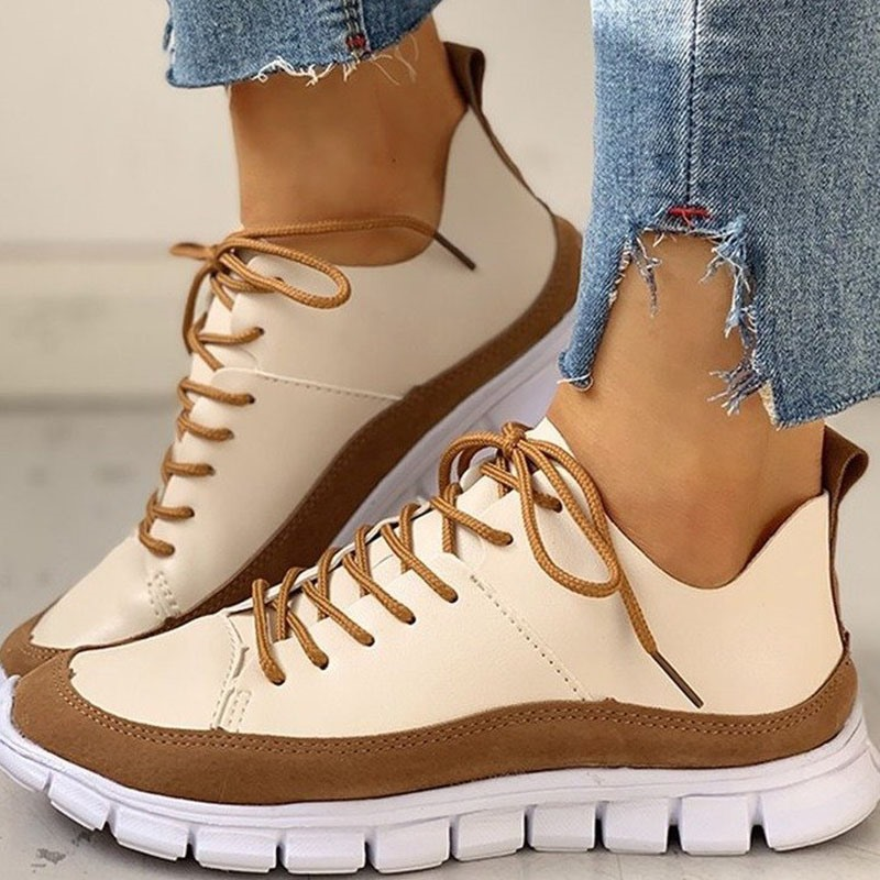 Ericdress Round Toe Thread Low-Cut Upper PU Sneakers