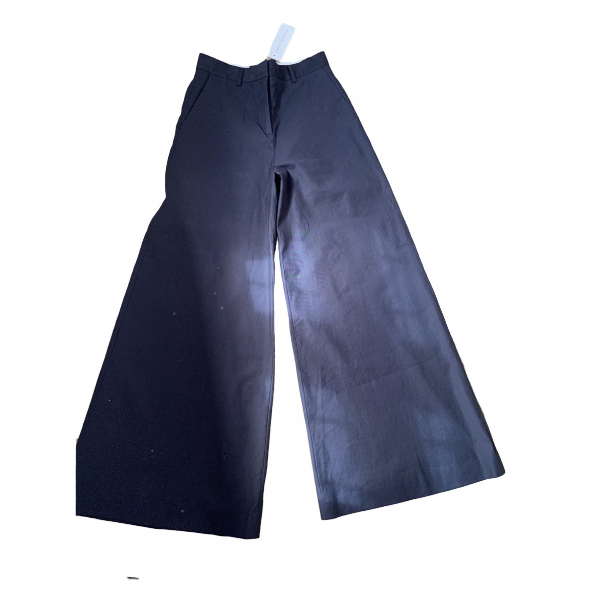 French Connection \N Black Cotton Trousers for Women 8 UK
