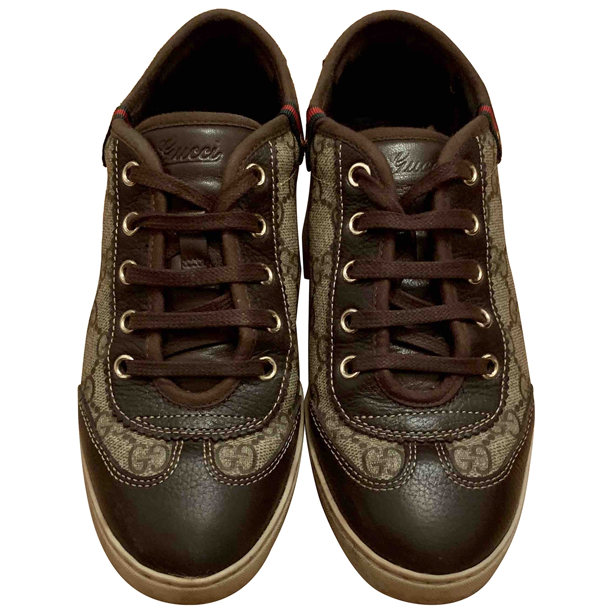 Gucci \N Brown Cloth Trainers for Women 36 IT