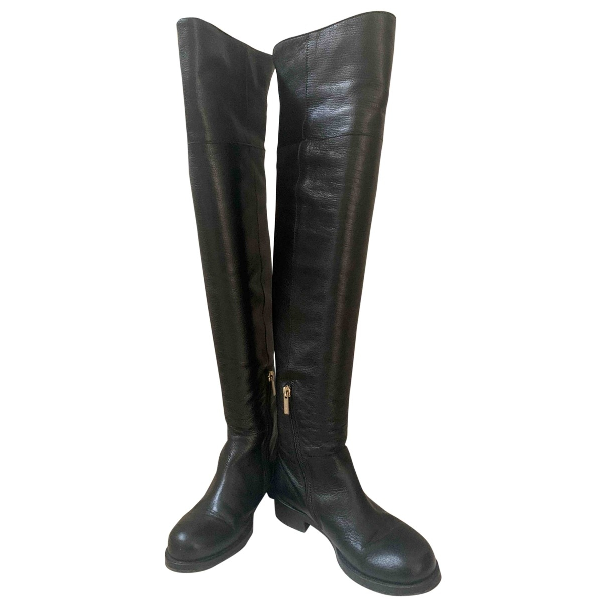 Jimmy Choo \N Black Leather Boots for Women 35 EU