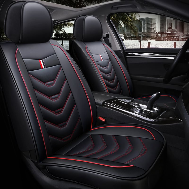 Full Coverage Man-Made Leather Wear Resistant Durable Soft Comfortable Universal Single Seat Cover Suitable For Most Cars