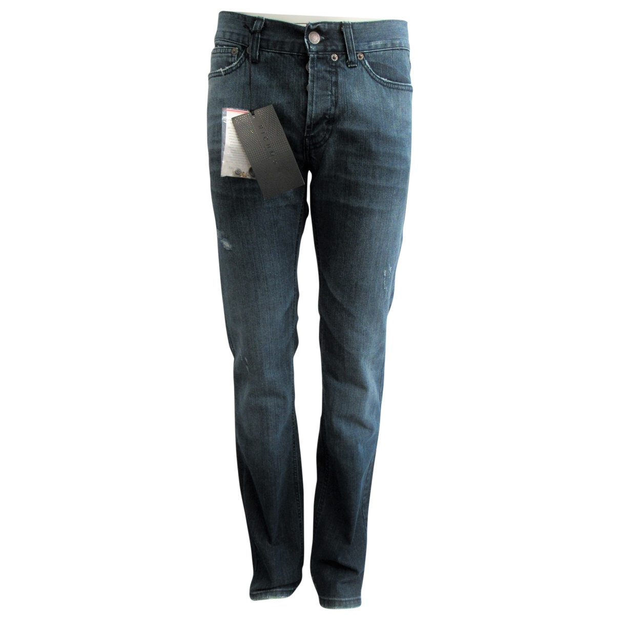 Non Signé / Unsigned \N Blue Cotton Jeans for Men 29 US