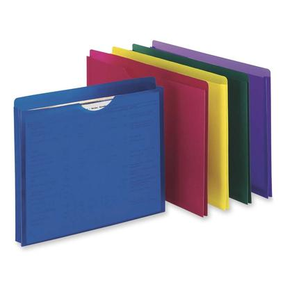 Pendaflex@ Translucent Poly File Jacket, Assorted Colors - Letter