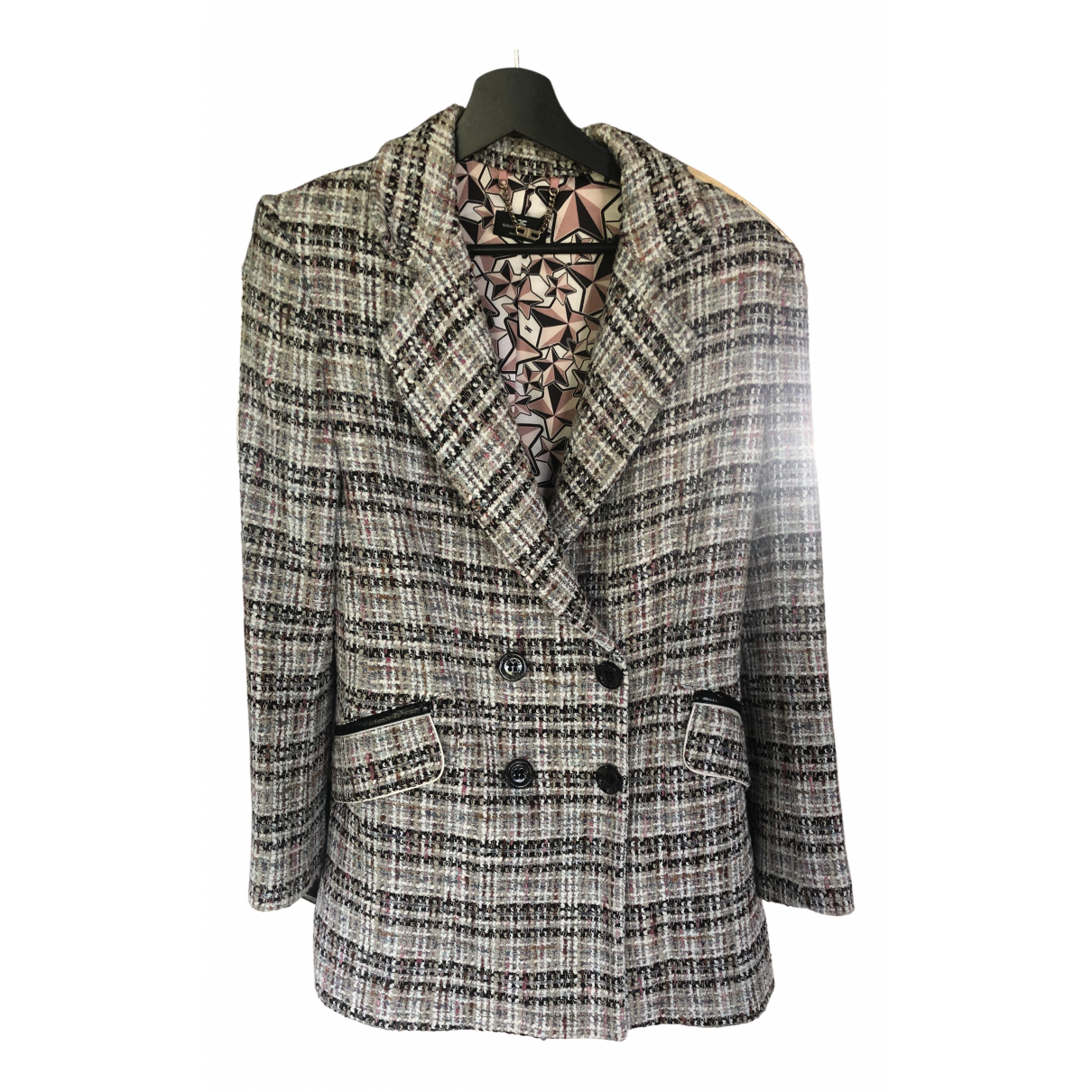Elisabetta Franchi \N Beige jacket for Women 42 IT