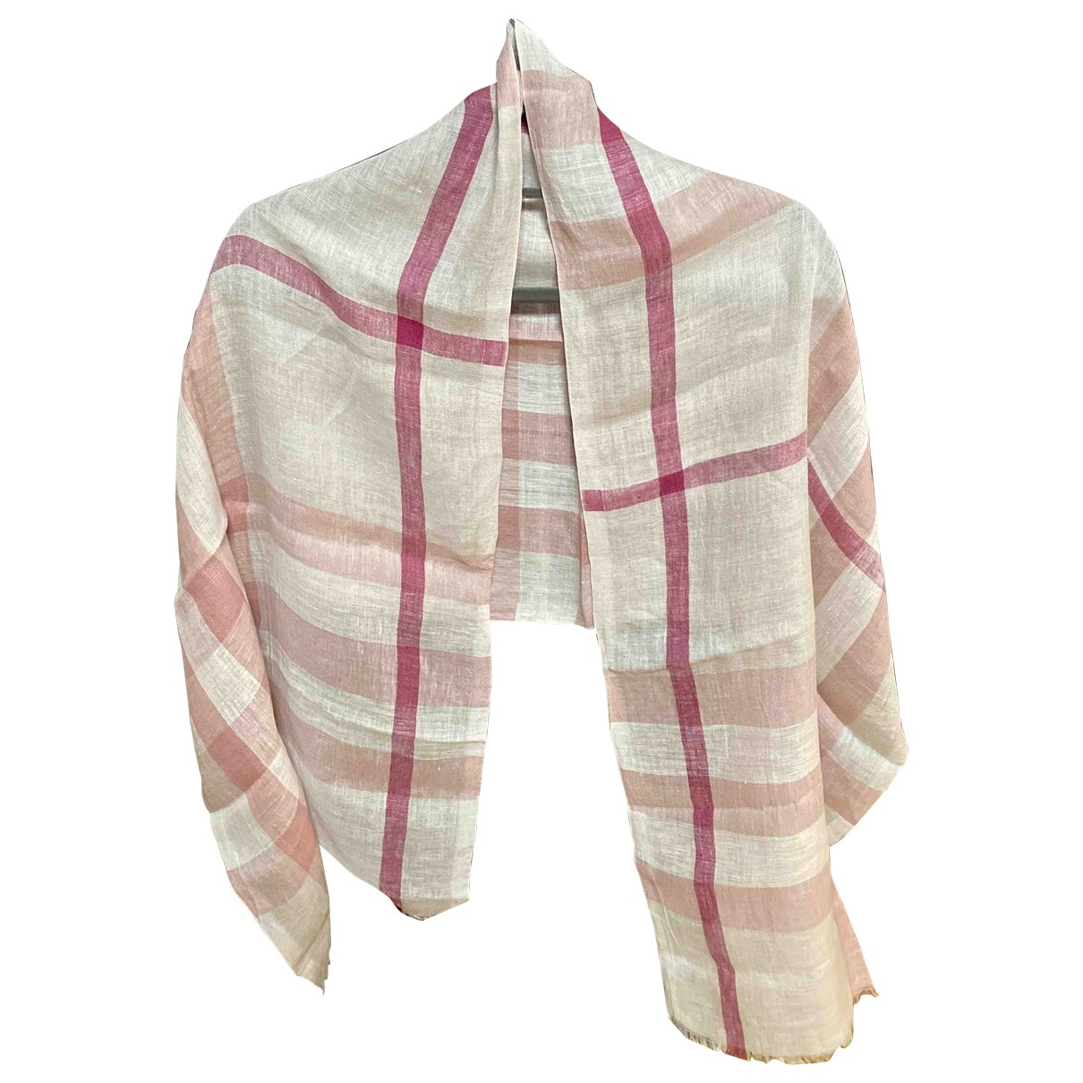Burberry \N Pink Linen scarf for Women \N