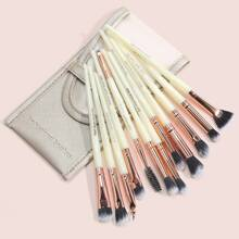 12pcs Eye Makeup Brush With 1pc Storage Bag