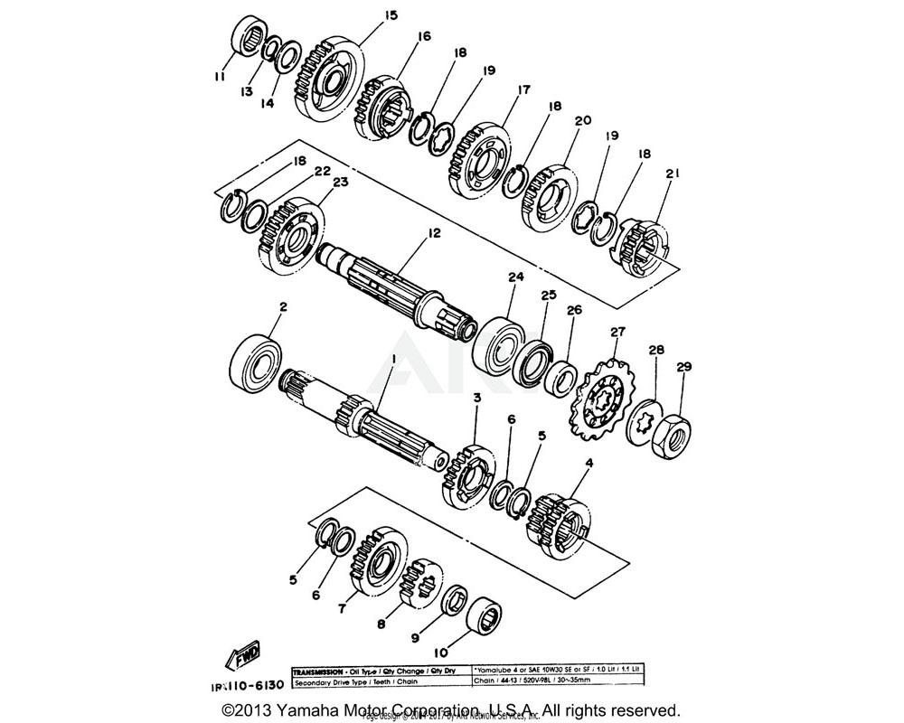 Yamaha OEM 93300-20501-00 BEARING