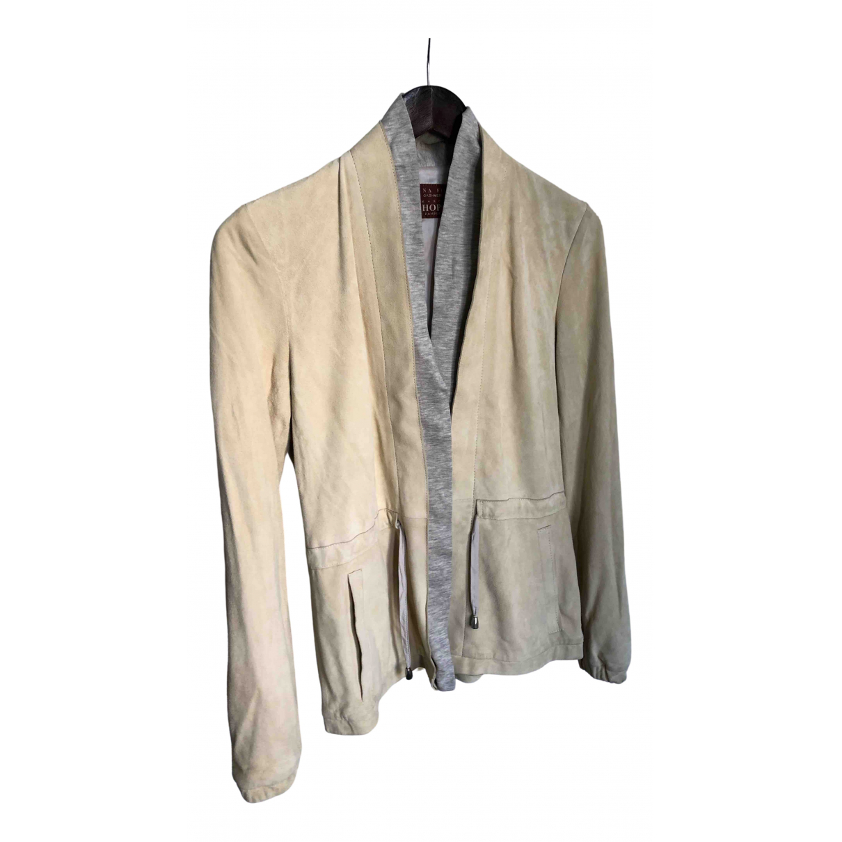 Fabiana Filippi \N White Leather jacket for Women 38 IT