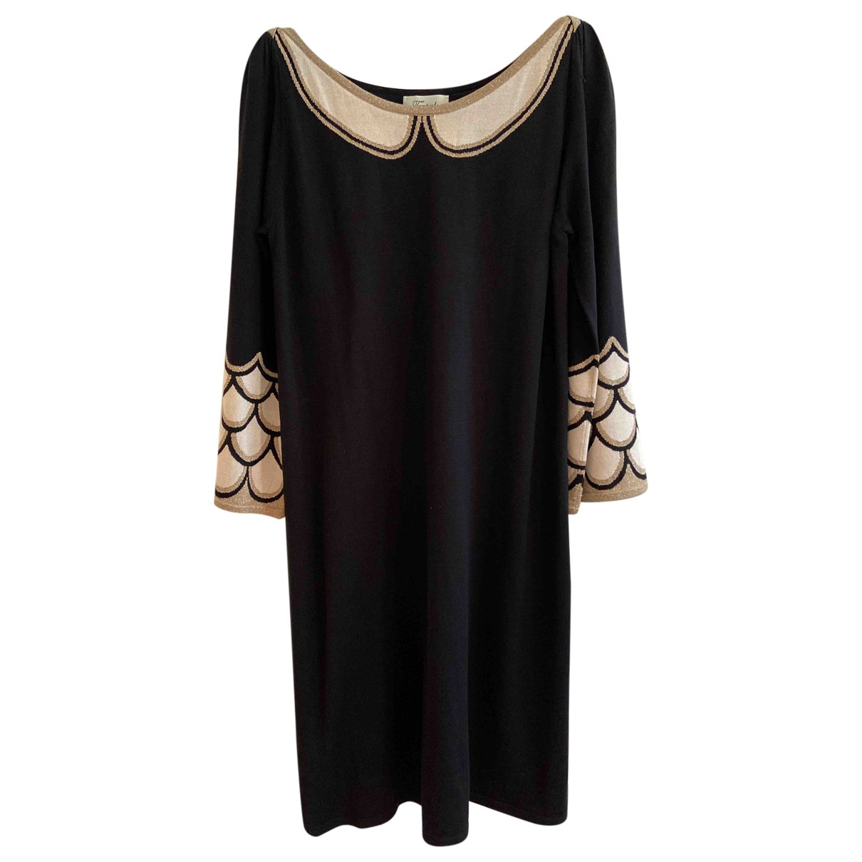 Temperley London \N Black Silk dress for Women 12 UK