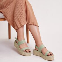 Double Band Espadrille Wedges