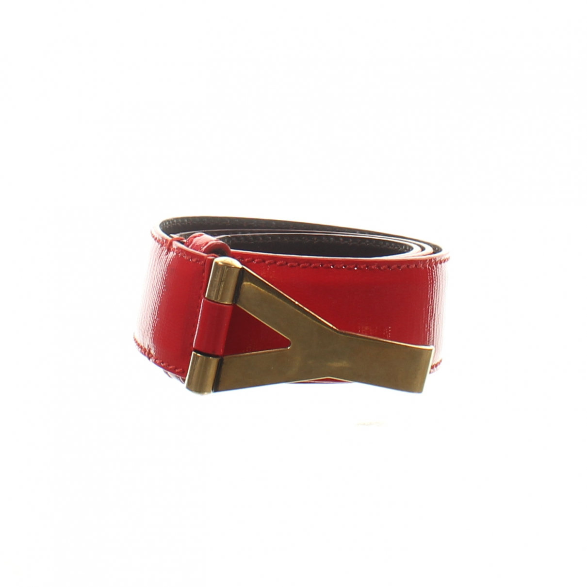 Yves Saint Laurent \N Red Patent leather belt for Women 70 cm