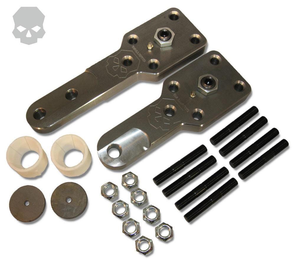 D60 High Steer Kit For Kingpin Axles 3/4 Inch Bolt Hole Standard Kit Long Passenger and Short Driver Arms Ballistic Fabrication HSA-601DRILL