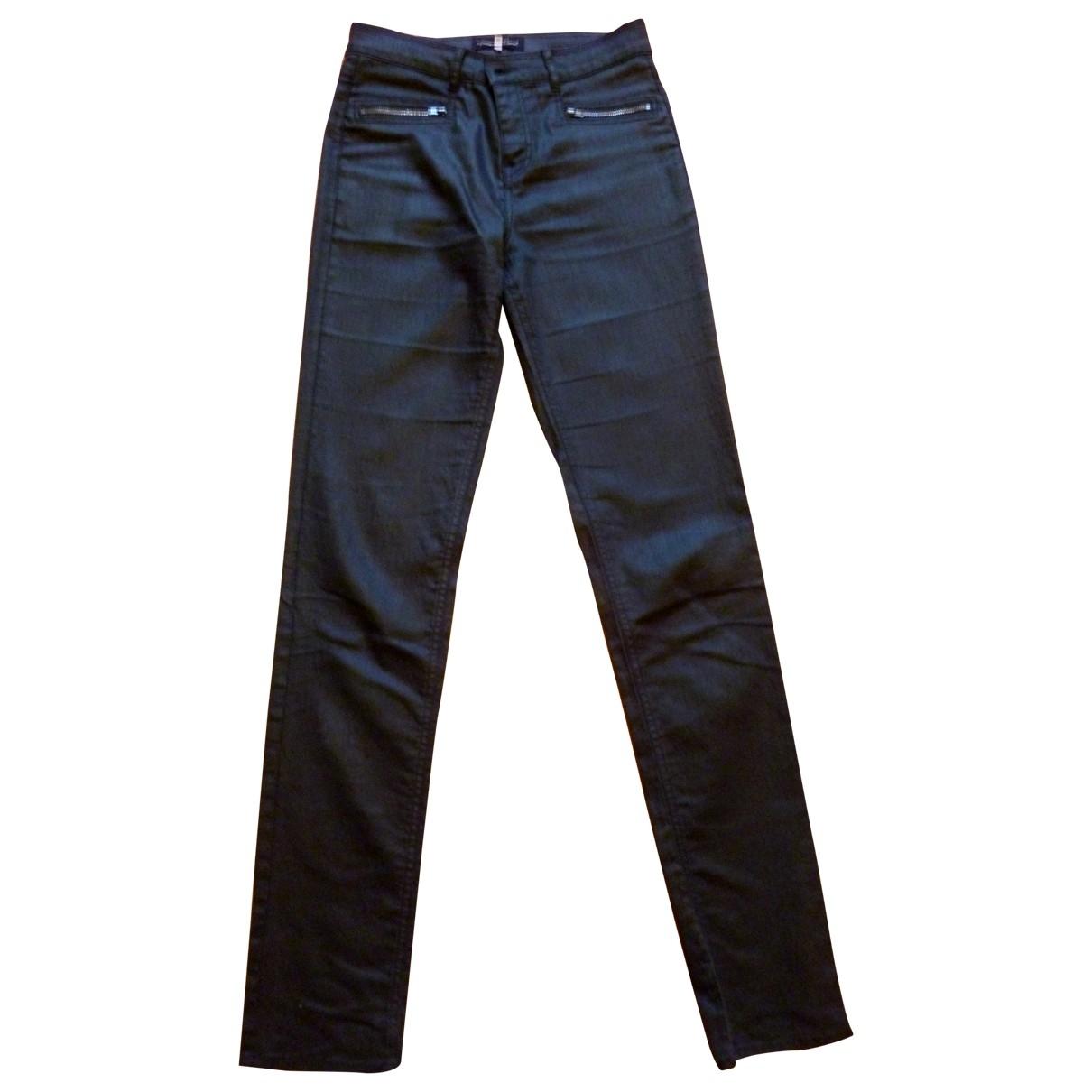 Gerard Darel \N Black Cotton Trousers for Women 38 FR